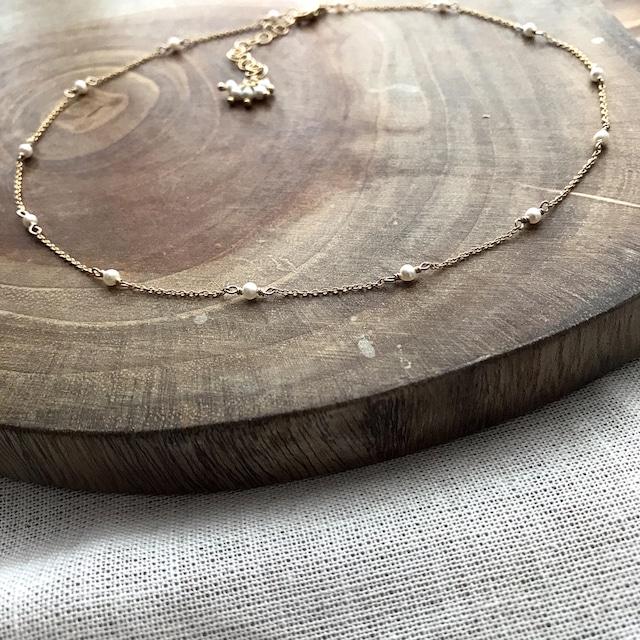 Pearl*Necklace/K14gf