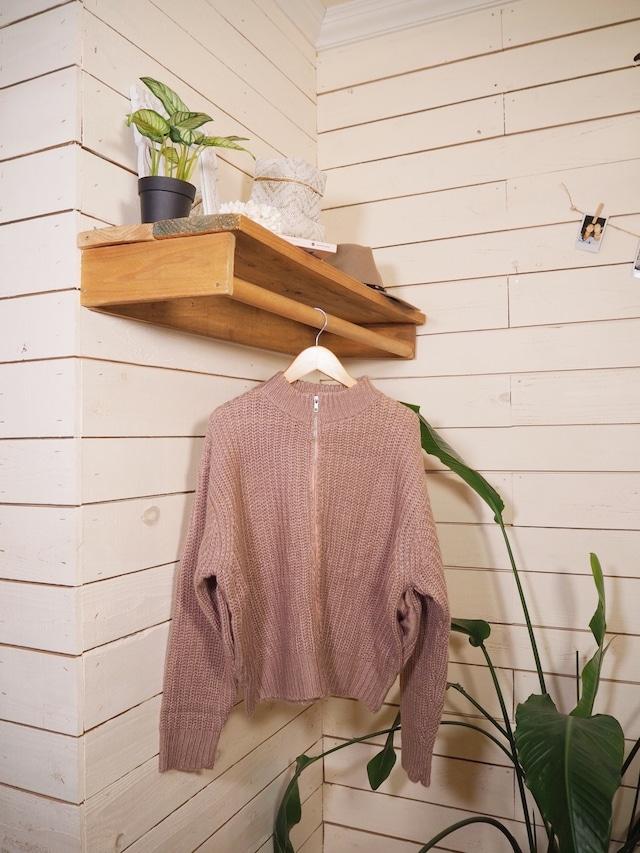 Zip Knit Jacket《PNK》20383143