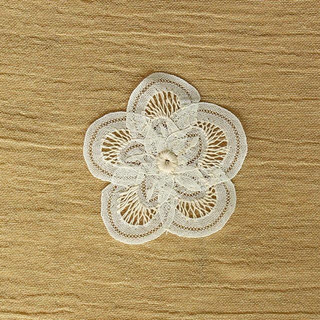 【綿100%使用】バテンレース製花瓶敷き 直径10センチ【YBL-DLY-01】