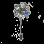 Stardust pin-brooch (スターダストピンブローチ)EMU-021-02 オーロラ