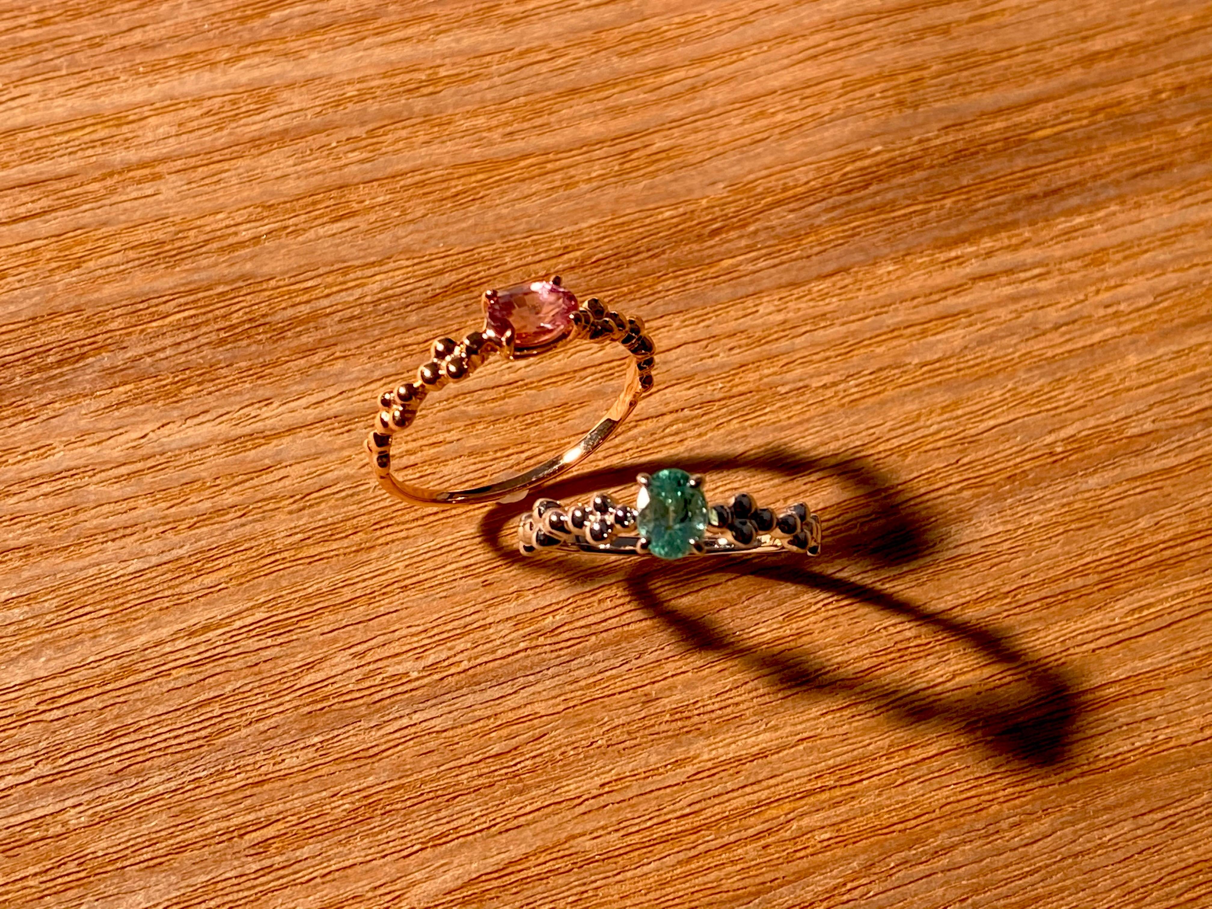 【10金】お持ちの宝石をリングにオーダー作成 [デザインNo,3]