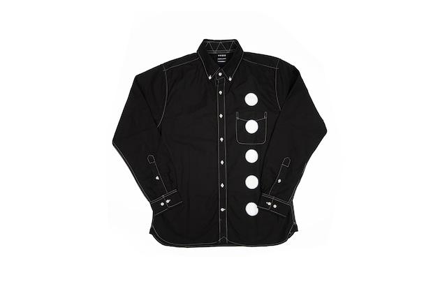 黒紋付染めシャツ 「黒紋 -くろもん-(Black crest)」