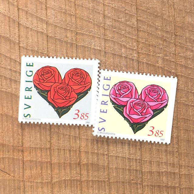 切手(未使用)「1997年版 バレンタインデー - 2種セット(1997)」