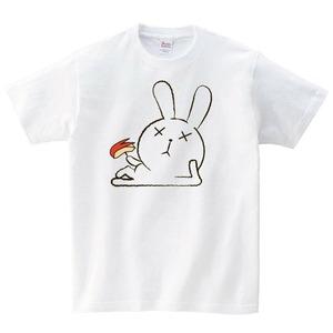 うさぎ Tシャツ メンズ レディース 半袖 かわいい ゆったり おしゃれ トップス 白 30代 40代 ペアルック プレゼント 大きいサイズ 綿100% 160 S M L XL