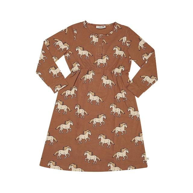 【21AW】カーラインク(CARLIJNQ)Wild Horse 2button dress ワンピース 馬