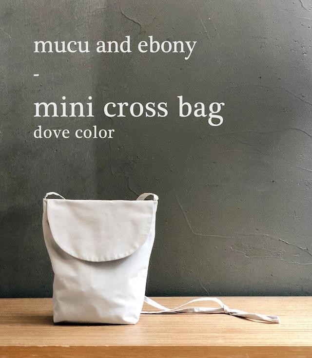 [mucu&ebony] ミニクロスバッグ (全2色)