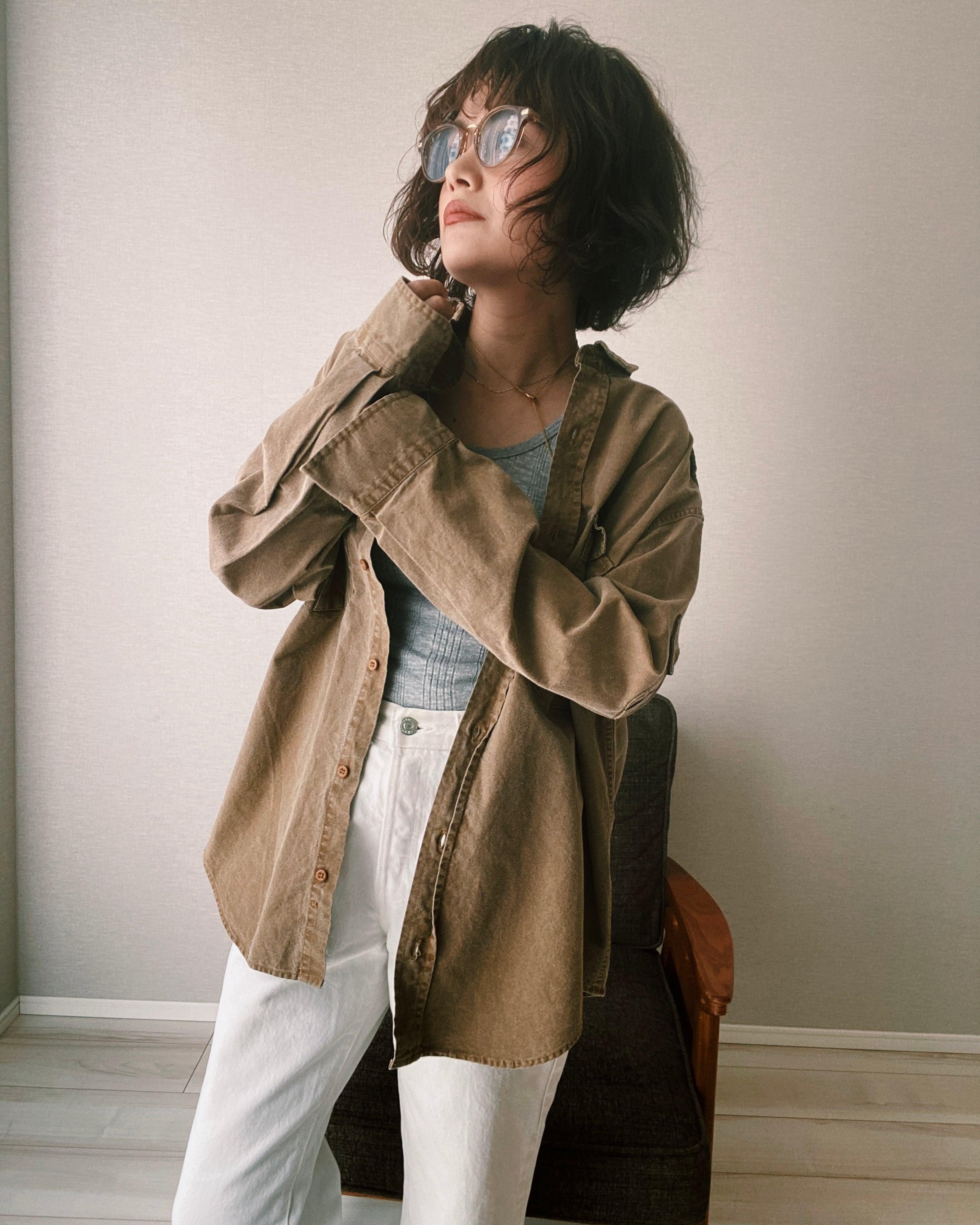 (SH141)BANANA REPUBLIC cotton shirt