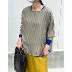 【hippiness】cupro long sleeve (stripe beige)/【ヒッピネス】キュプラ ロングスリーブ(ストライプ ベージュ)
