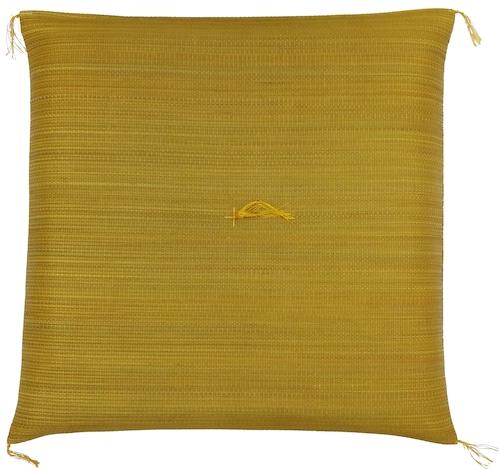 【純国産 い草座布団】イエロー Rush Grass Cushion : YELLOW Made in JAPAN