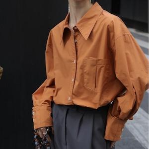 Cuff pleats shirt(カフプリーツシャツ)b-431