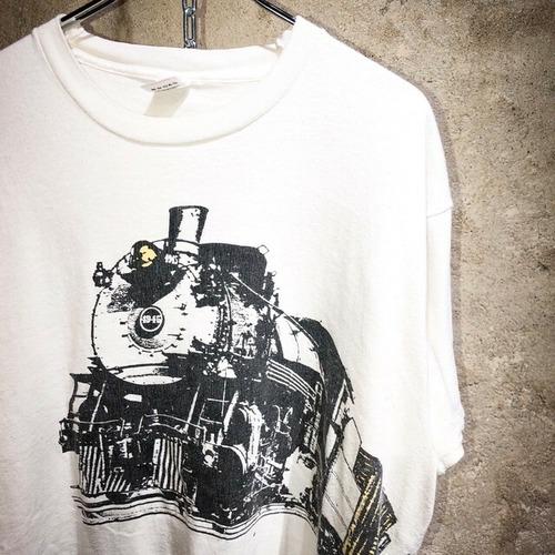 90's locomotive 珍 print tee