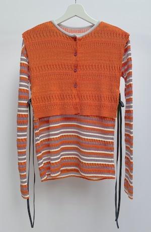 【受注】YUKI SHIMANE Random Rib knit vest top