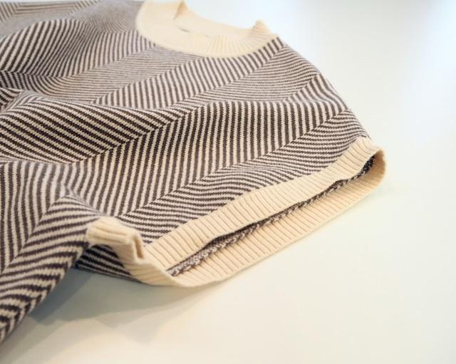 herringbone knit vest <brown>