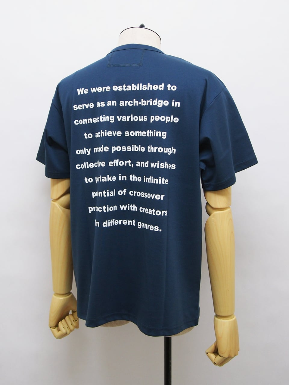 O U R E T (オーレット) クルーネック半袖メッセージTEE / BLUE OR211-3372-40