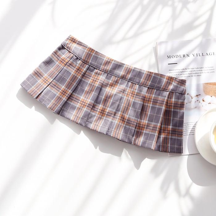 [3color] ミニ丈制服スカート