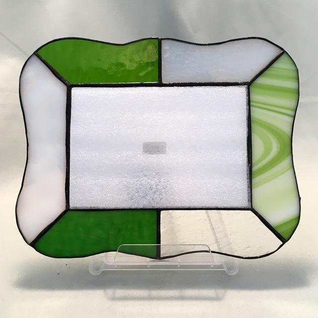 MK017 ステンドグラスミラー「グリーン」