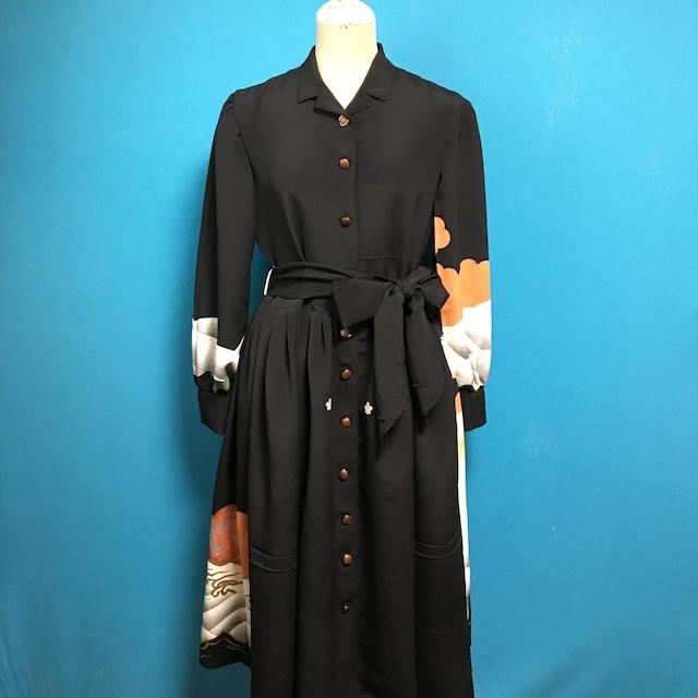 Vintage black US 6-8 孔雀