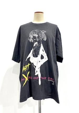 〈よふかしのうた〉START OF THE DAY. ピグメントダイTシャツ