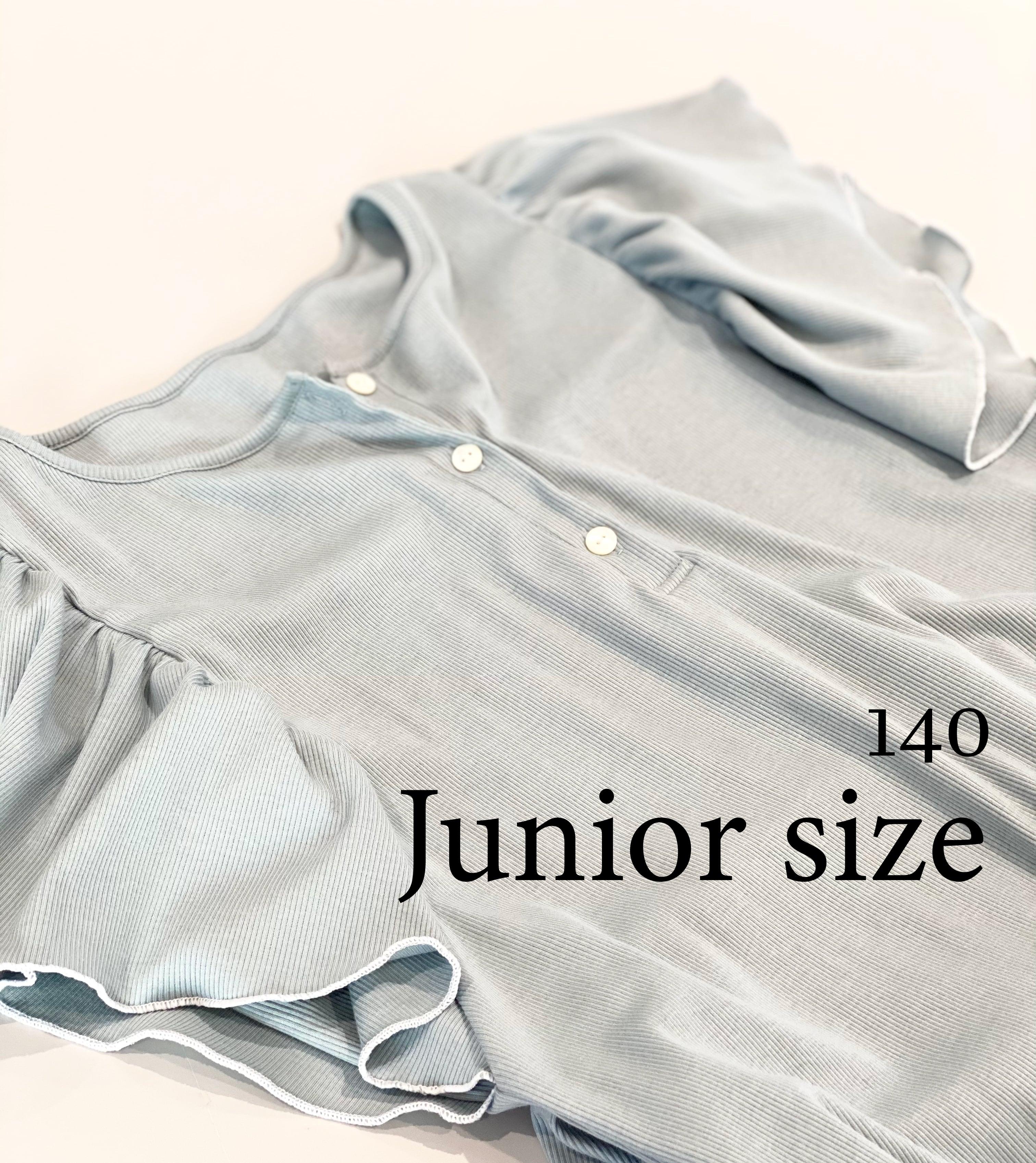 【ジュニアサイズ】【お母さんとお揃いも可愛い】メローフリルワンピースとパンツのセット/綿シルクテレコ/シミラールック