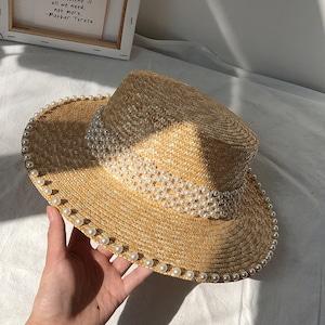 【再入荷】付きストローカンカン帽