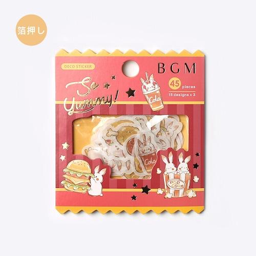 BGM フレークシール「フード・ウサギ」