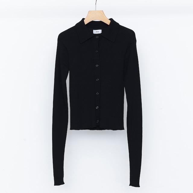Standard Wool Rib Cardigan - Black