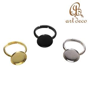 アクセサリー パーツ 指輪 リング 円形 丸 10個 内径12mm [ri-0311] ハンドメイド オリジナル 材料 金具 装飾 カラワク 空枠
