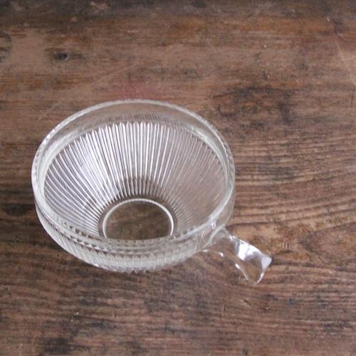 鍵型取手のガラスカップ 在庫1客