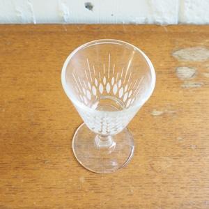 しずく模様のミニグラス