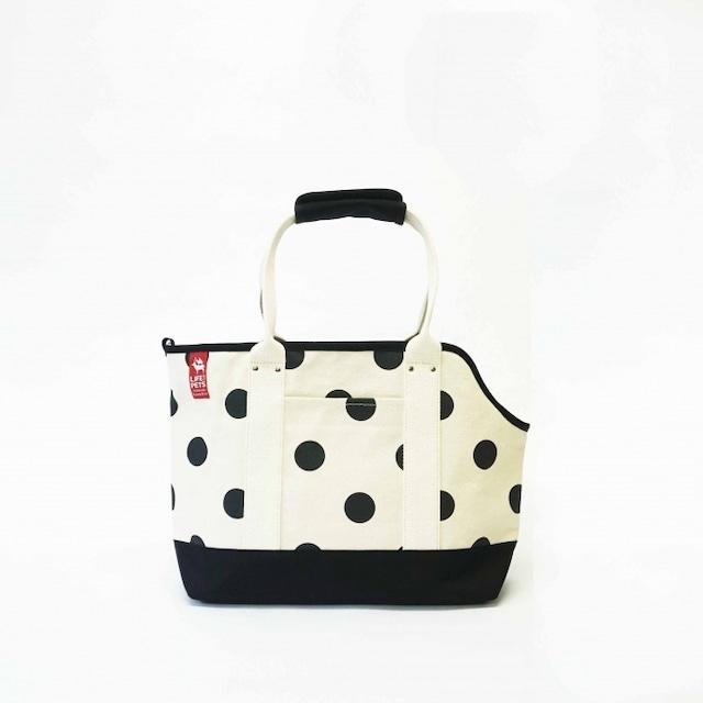 pet carry bag S / black x polka dot ペットキャリーバッグS / 墨 x 水玉