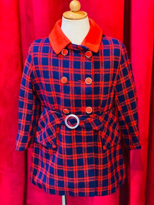 Vintage Kids子供服 チェックコート