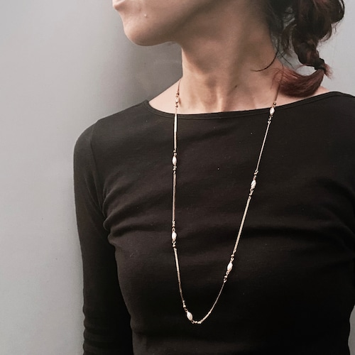 Pearl long necklace NC-038