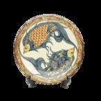 線彫り魚紋の尺2寸皿(約36cm)【金城陶器秀陶房】