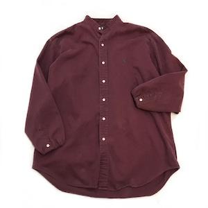 【USED】REMAKE Ralph Lauren ラルフローレン バンドカラーシャツ ワイン