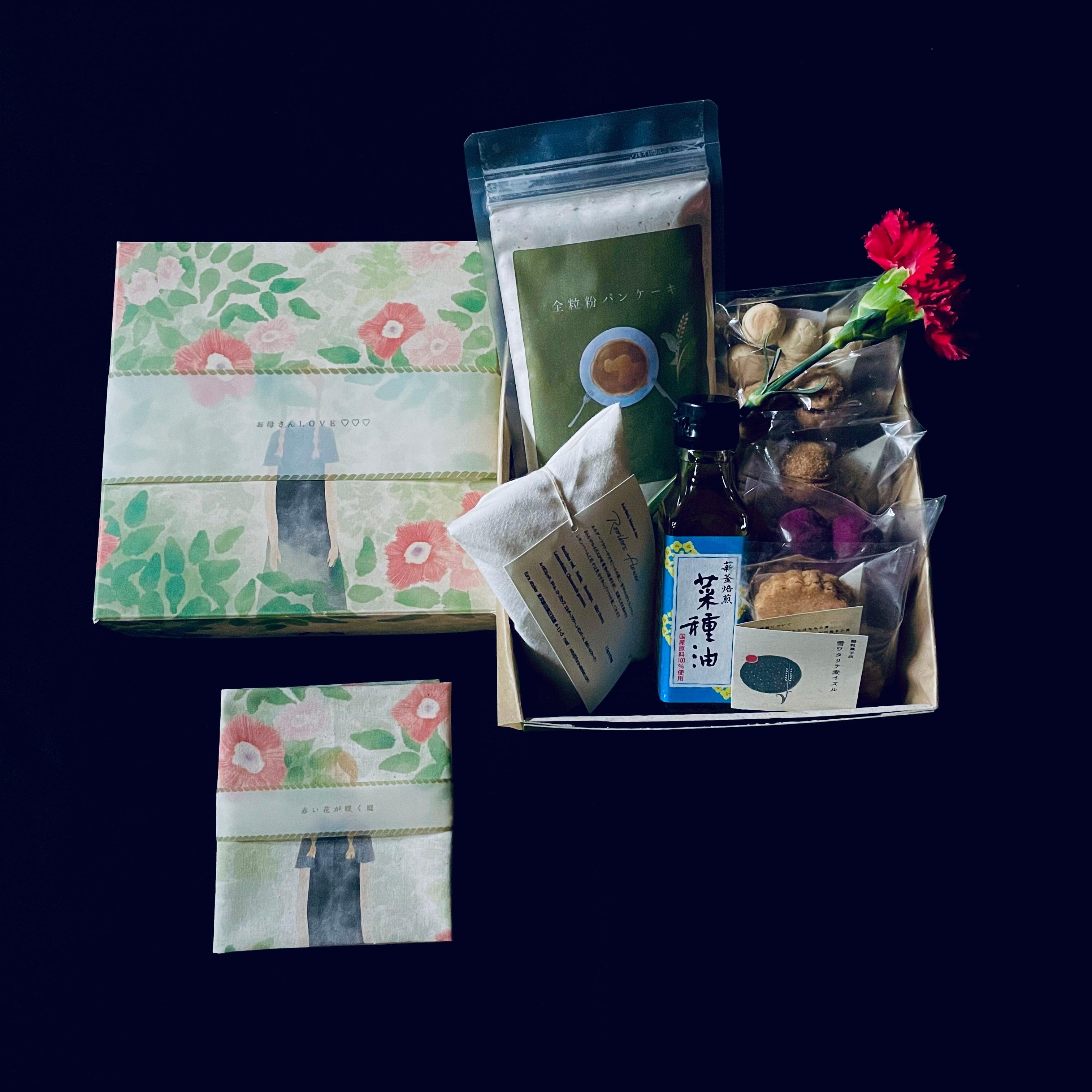 《母の日box》石臼挽き全粒粉パンケーキ&穀粒菓子