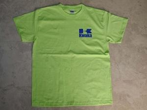 ■KWAKA 左胸ワンポイント Tシャツ ■マッドマックスマニア必着!KAWASAKIライムグリーン!