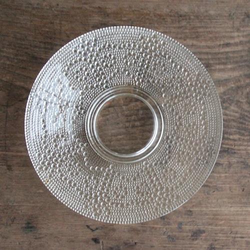 水玉 レトロなガラス皿 在庫5枚