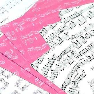 楽譜柄折り紙30枚 ショパンピアノ曲