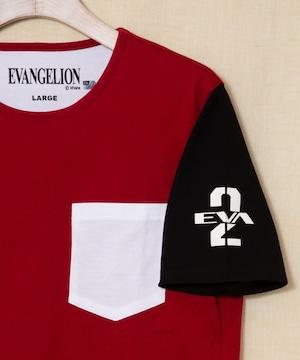 エヴァンゲリオン【2号機 式波・アスカ・ラングレー】クレイジーパターンTシャツ
