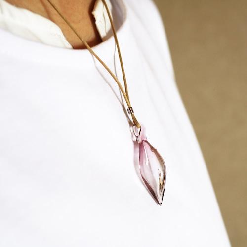 硝子のアロマペンダント <Pink & Clear>★