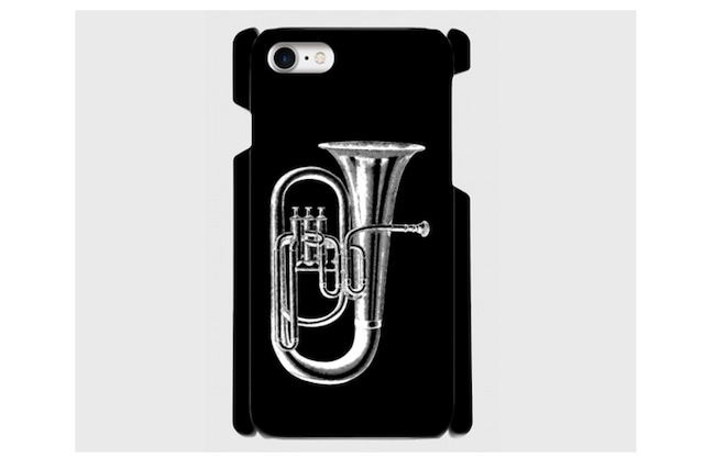 (iPhone用)チューバのスマホケース(黒)