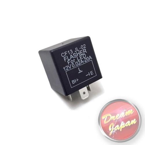 バイク ウインカー リレー 3ピン 01w-150wLED/ハイフラ防止/通常球・LED混在OK/アドレス/原付/ビックスクーター