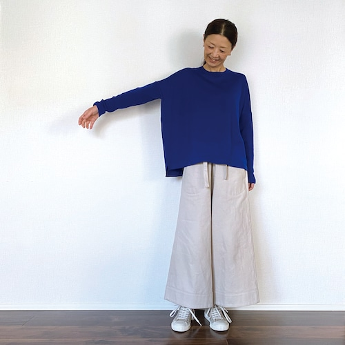 【new color!】リブ袖ニット(K01SA)