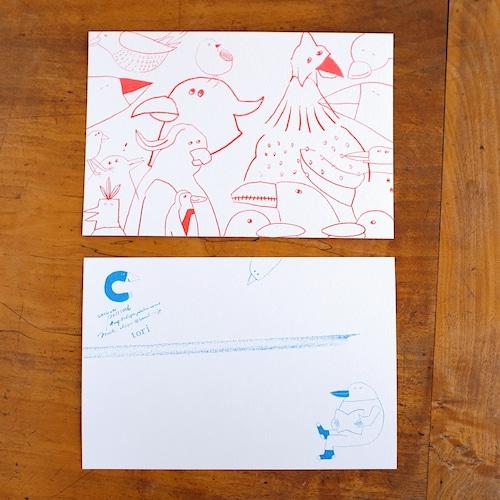 【CHIQON】postcard「tori」