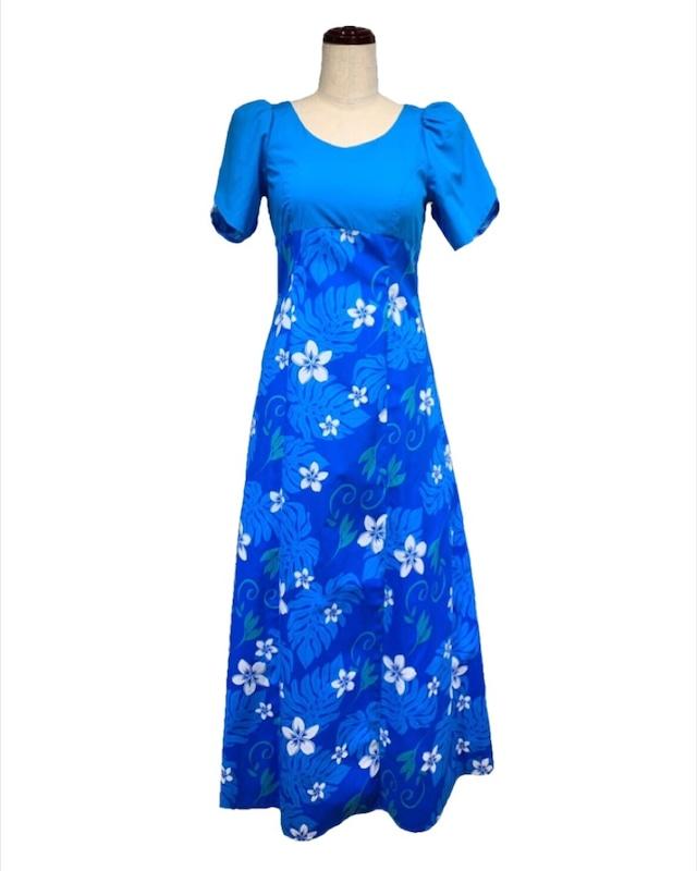 583040/ドレス/ハワアンプリント/ブルー