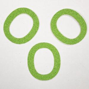 切り文字 A&Cペーパー パルプロックPBR‐006(グリーン) 粘着付 数字「0」