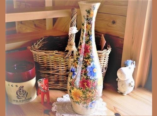 イタリア BAFFONI Gubbio 花瓶 マジョリカ陶