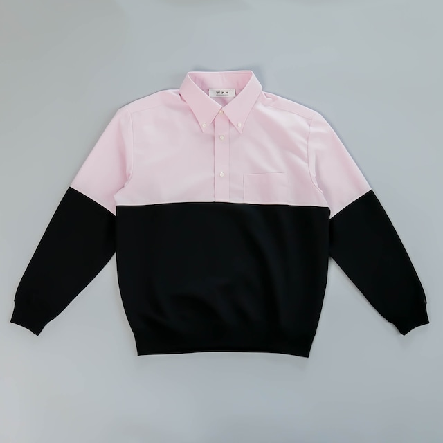 WFH Jammies Pink Shirt x Black Jersey (Top Only)