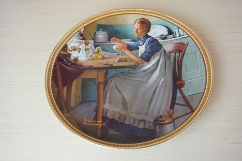 ノーマンロックウェル 絵皿(114-13)