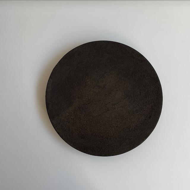 藤本健   錆漆 8寸皿